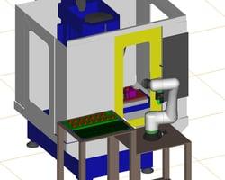 協働ロボットによる加工機ローディング装置_1