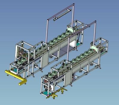 3D事例 着磁モーター搬送コンベア_1